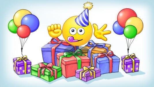 Поздравления с Днем рождения смайлика