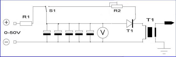 тиристорный ключ T1.